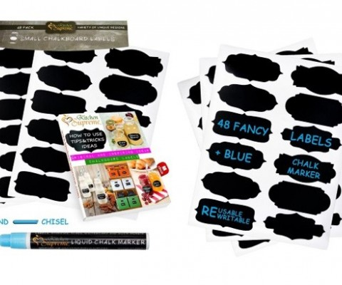 Kitchen Supreme launches Chalkboard Labels with reversible tip blue marker