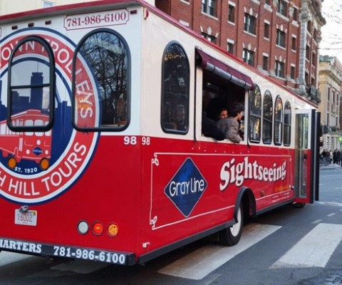 Gray Line Boston & Cape Cod/Brush Hill Tours Beantown Trolley Provides Transportation
