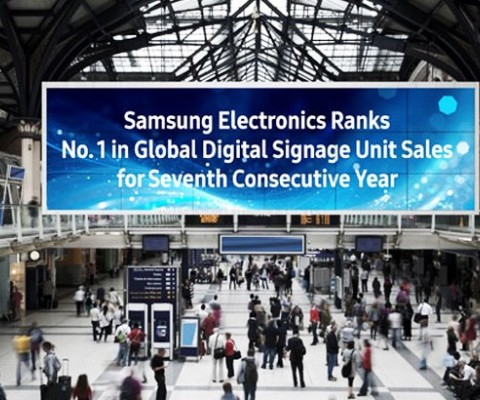 Samsung Electronics Ranks No. 1 in Global Digital Signage Unit Sales for 7th Consecutive Years