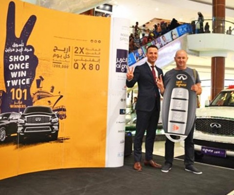 "Al Ghurair Centre Announces First Mega Winner of Infiniti QX80 in ""Shop Once Win Twice"""