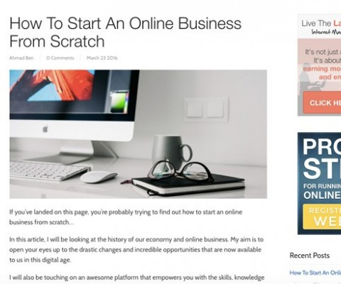 Bengu Marketing Posts Guide on Starting an Online Business